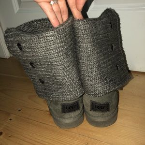 Heather Gray Knitted Uggs